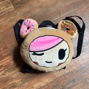 Neon Star Donut Girl Small Backpack